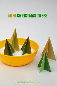 Arts And Crafts Christmas Tree - make mini christmas trees for free pink stripey socks