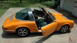 porsche signal yellow porsche 911s targa signal orange