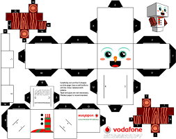 the christmas clones de cubeecraft paper toys snowman and toy