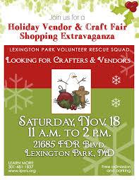 holiday craft and vendor fair november 18 2017 lexington park