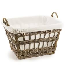 Laundry Hamper 3 Compartment by Kubu Wicker French Laundry Basket The Basket Lady