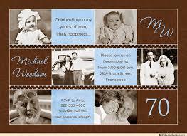 70th birthday invitation man u0027s photos lifetime vintage