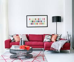 Futuristic Coffee Table Red Sofa Minimalist Modern Living Room - Red sofa design ideas