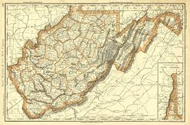 West Virginia Map With Counties by Maps Antique United States Us States West Virginia