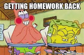 Spongebob Homework Meme - homework