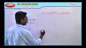 samacheer 8th std term 02 unit 01 algebra youtube