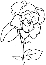 roses flowers coloring pages flower coloring pages of
