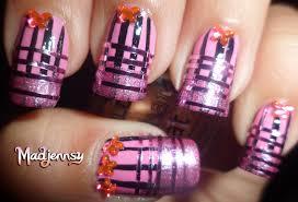 pink striped nails striping tape nail art bornprettystore com