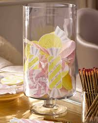 Personalized Cotton Candy Bags A Candy Themed Bridal Shower For Dylan Lauren Martha Stewart