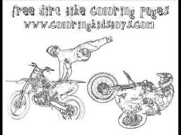 free coloring motorcycle boys yescoloring dirt bike boys