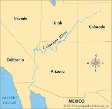 Mexico On A Map by Colorado River By Wyatt Thinglink