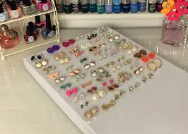 store stud earrings flutter and sparkle diy and easy earring storage solution
