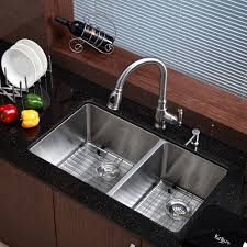 Stainless Faucets Kitchen by Stainless Steel Kitchen Sink Combination Kraususa Com