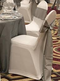 White Banquet Chair Covers Silver Chair Ties Maybe Silver Underskirt For Black Sparkly Table