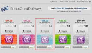 buy gift cards online how to buy an itunes gift card online