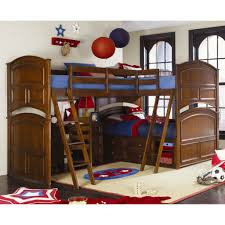 Corner Bunk Beds Bedroom Double Brown Wooden Homemade Bunk Beds - L bunk bed