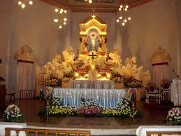 church altar decorations the altar of dauis church decorated for the solemnity of the
