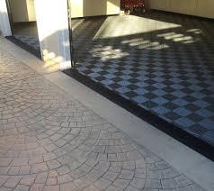 Diamond Tread Garage Flooring by Garage With Tile Flooring U0026 Black Diamond Plate Transition U2026 Flickr