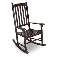 coral coast indoor outdoor mission slat rocking chair dark brown