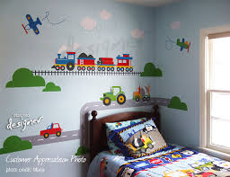 Wall Decals Kids Rooms by Transportation Wall Decal Children Wall Decals Train Airplane