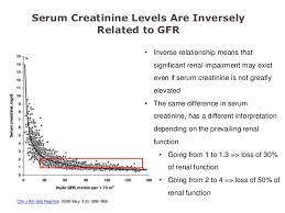 Serum Cr interpretation of renal diagnostic tests