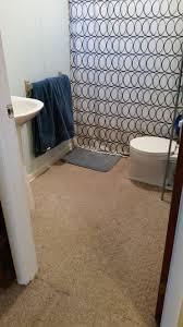 diy plank vinyl floor bathroom update flip this rental