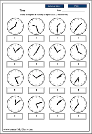12 best images of time worksheet generator telling time