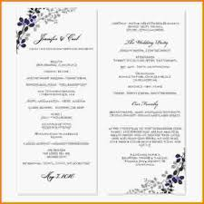 Sample Wedding Programs Templates 10 Wedding Program Template Word Letterhead Template Sample