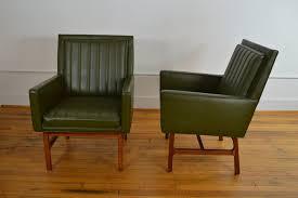 milo baughman for thayer coggin walnut frame mid century chairs