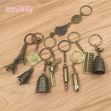 classic key rings images 100pcs lot metal classic keychain metal eiffel tower key chain jpg