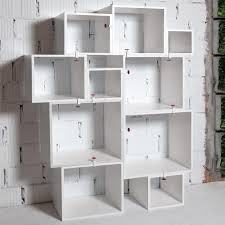 White Modular Bookcase by