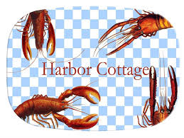 personalized melamine platters m1401 lobsters on gingham personalized melamine plate platter