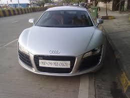 Audi R8 Silver - silver audi r8 in mumbai 1 madwhips