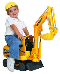 amazon com skyteam micro excavator ride on toys u0026 games
