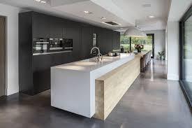cuisine design blanche cuisine moderne design avec ilot verre cbel cuisines newsindo co
