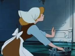cinderella cleaning washing maid animated gif popkey