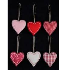 Fabric Heart Decorations Nordic Christmas Rosefields