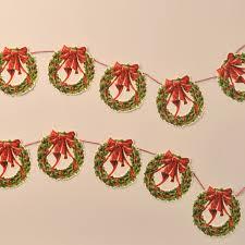 garland christmas wreath mamelok papercraft embossed diecut
