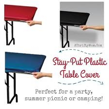 stay put table covers cing or picnic hacks stay put plastic table cover
