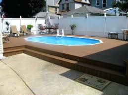 in ground swimming pool deck designs in ground pool deck ideas