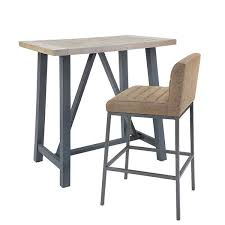 Industrial Bar Table Industrial Furniture Reclaimed Bar Table Set Modish Living
