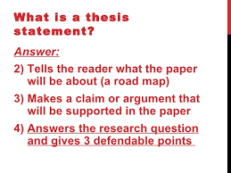 What is a thesis statement  SlideShare