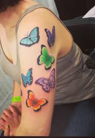 half sleeve butterfly flowers design fresh 2017 tattoos