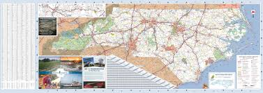 North Carolina Map Large Detailed Tourist Map Of North Carolina With Cities And Towns