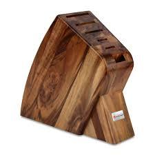 Knife Blocks by Wusthof Classic Slim Knife Block Set 7 Piece Acacia Cutlery And