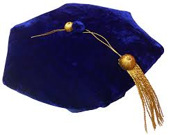 doctoral cap graduation tam royal blue