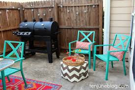 Target Outdoor Rugs by Ten June Colorful Outdoor Patio Makeover Reveal