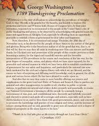 george washington s 1789 thanksgiving proclamation hotze health