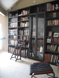 Bookcase With Frosted Glass Doors Ikea Billy Bookcase With Glass Doors H O M E Pinterest Ikea