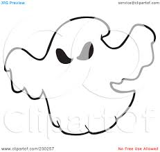 ghostbusters clipart ghost outline pencil and in color